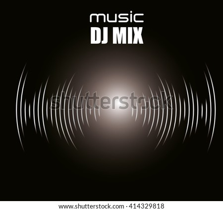music sound  design  - stock vector