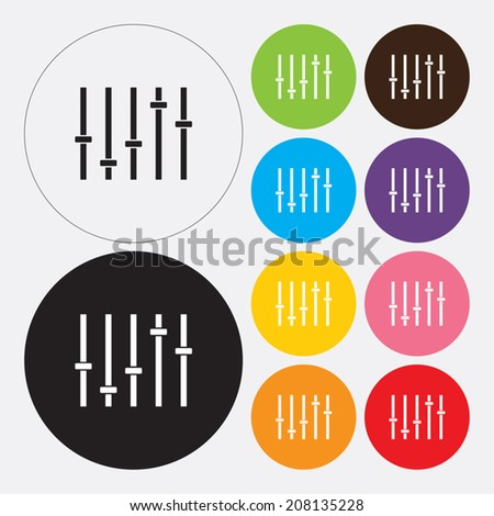 Music soundwave icon - Vector - stock vector