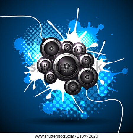 Music speaker vector background design