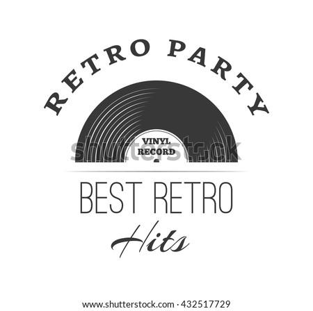 Music Style Logo Templates Retro Music Stock Vector 432517729 ...