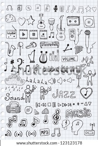 Music Symbols - stock vector