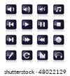 Music symbols and icons vector icon set - stock vector