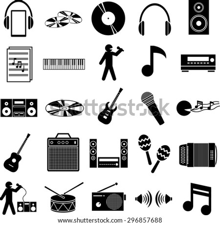 music symbols set - stock vector