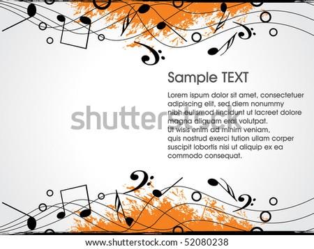 Music theme background.vector illustration - stock vector