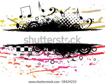Music theme background.vector illustration - stock vector