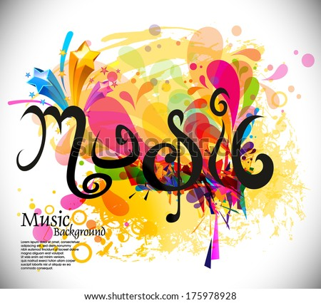 music theme background with musical note,vector Illustration - stock vector