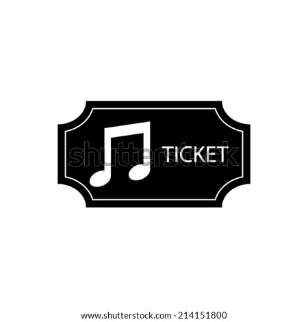 music Ticket - vector icon - stock vector