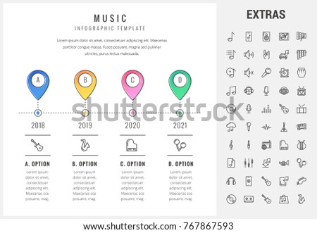 Music Timeline Infographic Template Elements Icons Stock ...