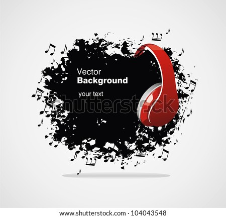 Music vector banner - stock vector
