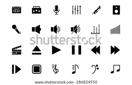 Music Vector Icons 1  - stock vector