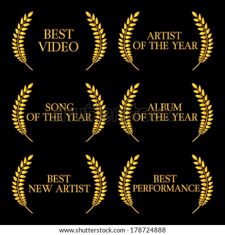 Music Video Awards Categories 2 - stock vector