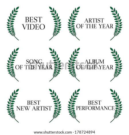 Music Video Awards Categories 1 - stock vector