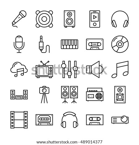 Music, Video, Multimedia, Cinema Vector Icons 2