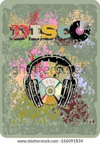 music vintage background - stock vector
