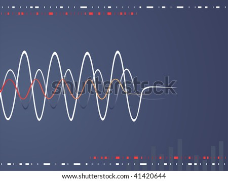 music waves - stock vector