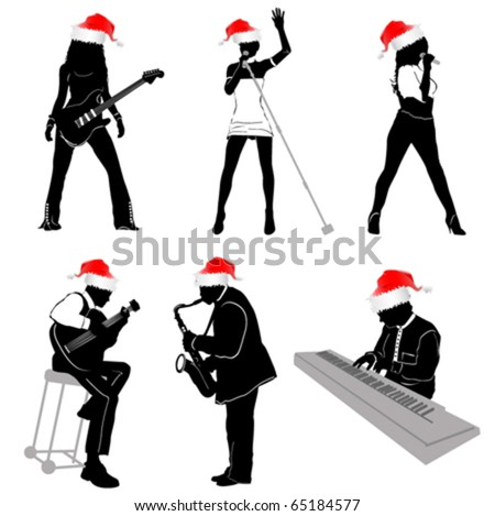 music with christmas concept - stock vector