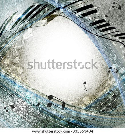 Musical abstract background - stock vector