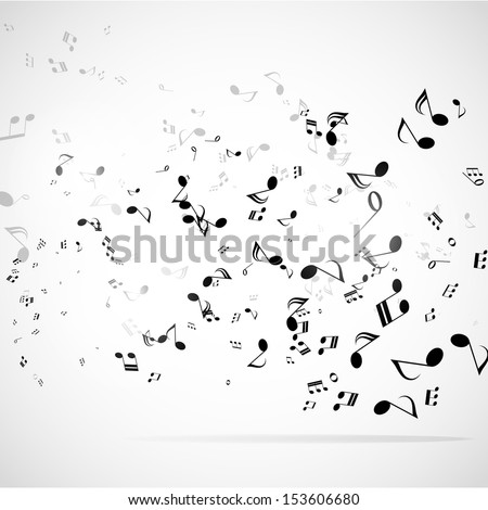 Musical abstract vector background  - stock vector