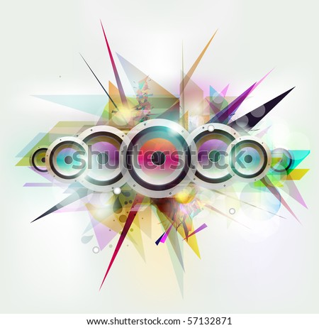 Musical and urban vector - stock vector