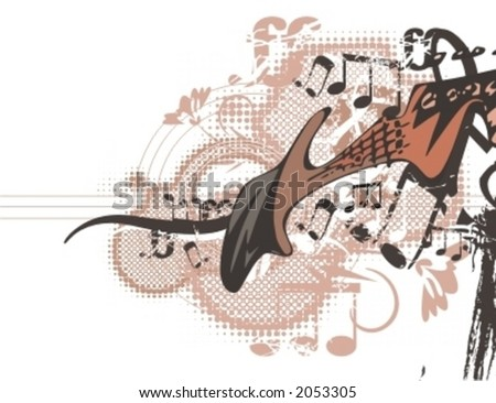 Musical Background-Grunge Style Series. - stock vector