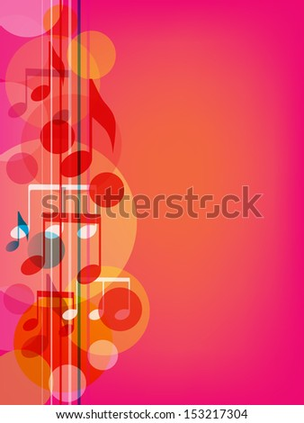 Musical background. Vector illustration - stock vector