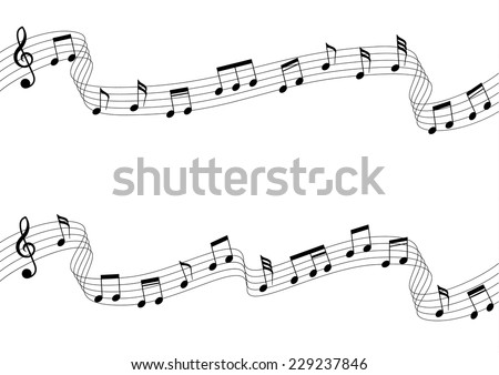 Musical Chords Flowing Ribbon Style Vector Stock Vector 229237846 ...