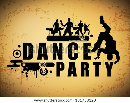 Musical dance party background. flyer or banner. - stock vector