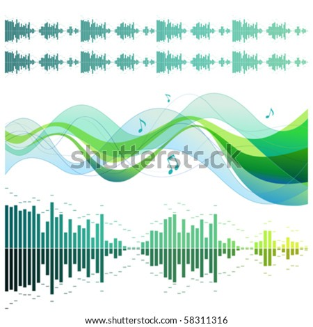 Musical design elements - stock vector