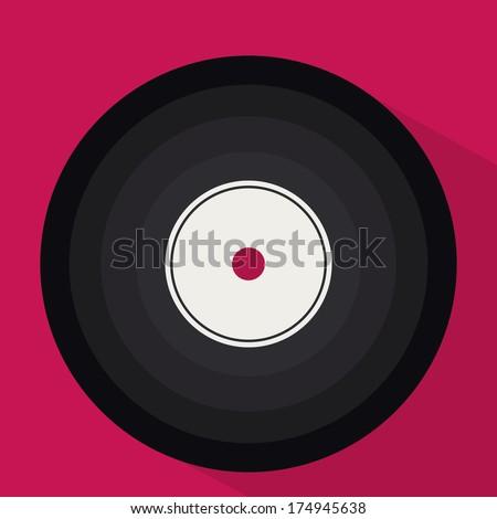 musical design over pink background vector illustration - stock vector