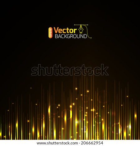 musical equalizer - stock vector