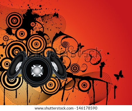 Musical grunge background. EPS 10 vectorillustration wthout transparency. - stock vector