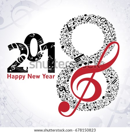 Bildergebnis für happy new year 2018 music
