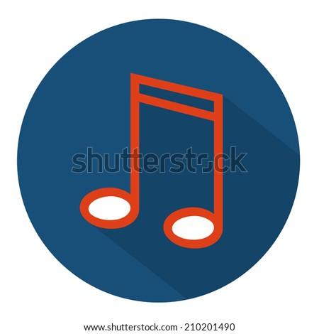 musical icon - stock vector