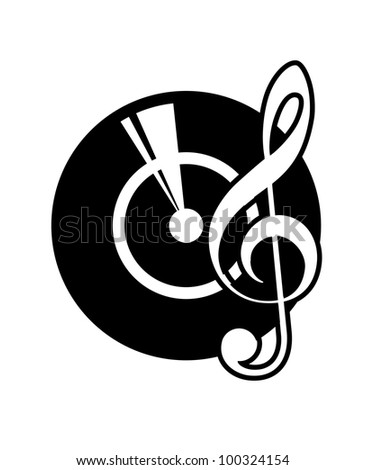 Musical icon, such logo. Jpeg version also available in gallery - stock vector