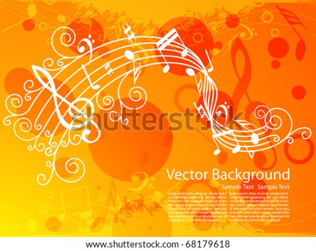 musical illustration, vector background - stock vector