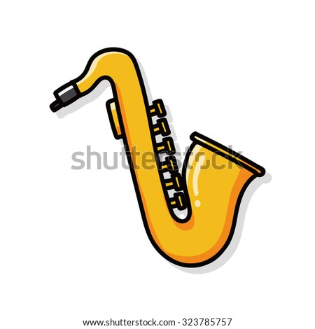 musical instrument Saxophone doodle