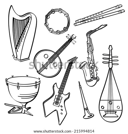 Musical Instruments - stock vector