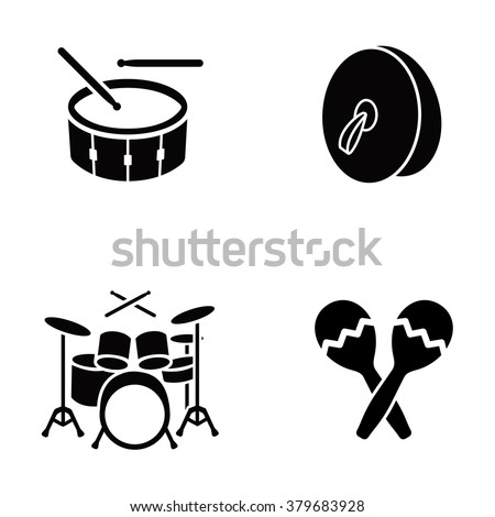 Musical instruments vector icons - stock vector