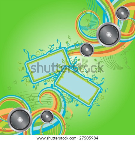 Musical iridescent abstraction - stock vector