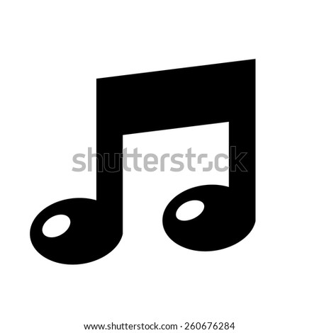 Musical note icon - stock vector