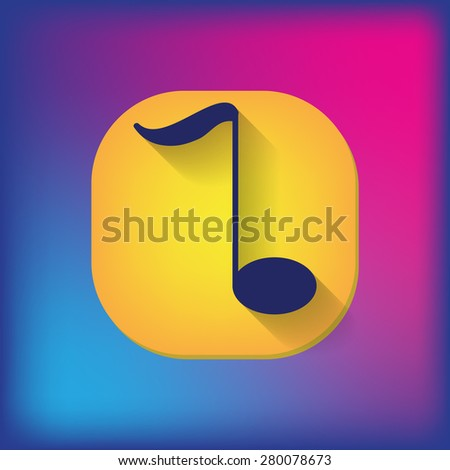musical note sign. character singing and the music industry