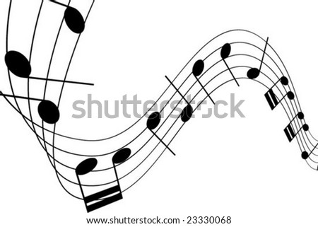 Musical Notes - stock vector