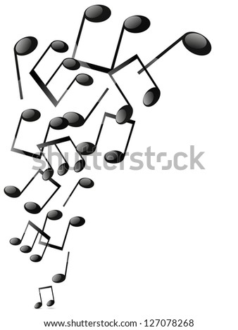 Musical notes background with place for text