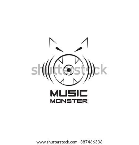 Musical Speaker Stylized Monster Stock Vector 387466336 Shutterstock