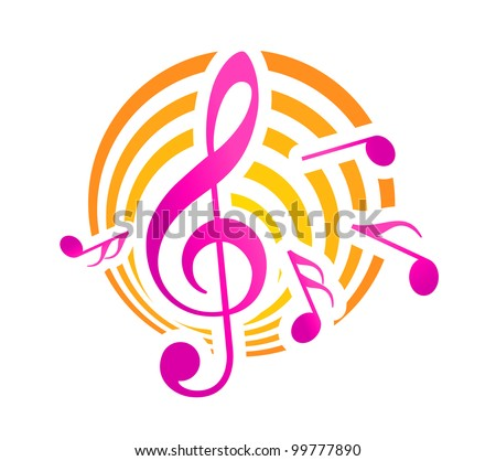Musical symbol, such logo. Jpeg version also available in gallery - stock vector