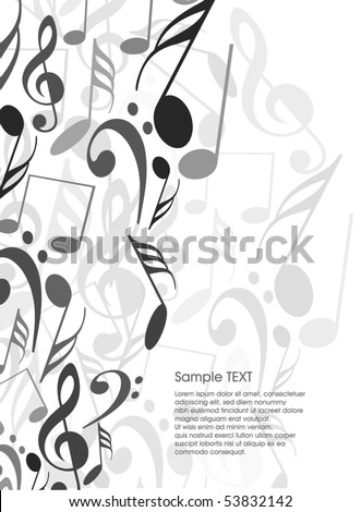 musical theme background with sample text,vector Illustration