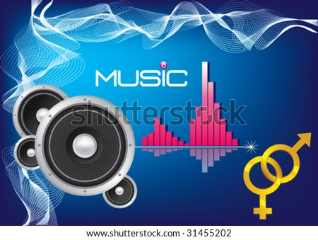 Musical Vector Background - stock vector