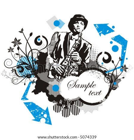 Musician background series, vector illustration with place for your text. - stock vector