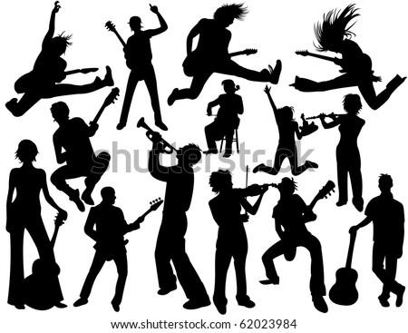 Musician people - stock vector