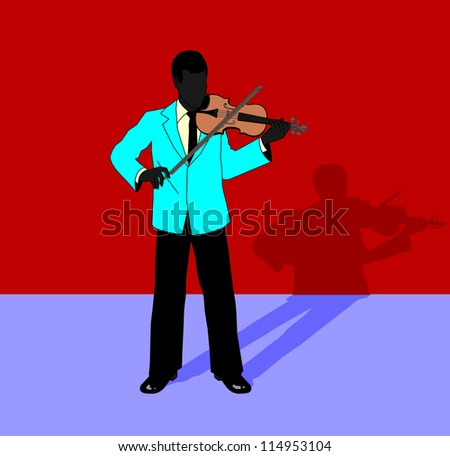 musician playing a viola - stock vector